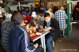 Breakfast at the KBI's comedor (soup kitchen). Photo by Andrea Cauthen.