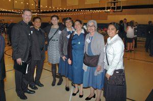 The KBI staff (from l. to r.): Fr. Sean Carroll, Fr. Samuel Lozano, Marla Conrad, Sr. Alicia Guevara Perez, Sr. Cecelia Lopez Arias, Sr. María Engracia Robles Robles, and Josefina Bejarano Padilla.