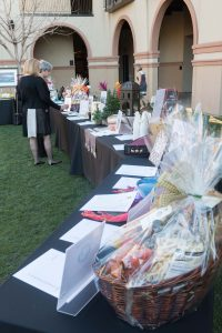 On display in the courtyard, a wide range of wonderful prizes for the Silent Auction, all donated.