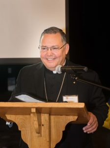 Bishop Eduardo Nevares, auxiliary bishop of Phoenix, offered the opening blessing.