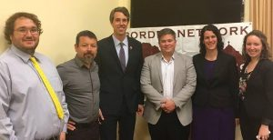 The KBI's Joanna Williams (second from right) with the Border Network for Human Rights delegation in Washington, D.C. Photo courtesy of the Office of Congressman Beto O'Rourke.