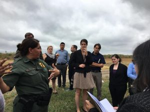 Joanna Williams on a tour of the border on a recent advocacy trip to McAllen, Texas.